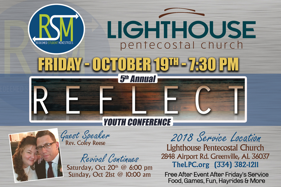Reflect Youth Conference 2018 2848 Airport Rd., Greenville Alabama