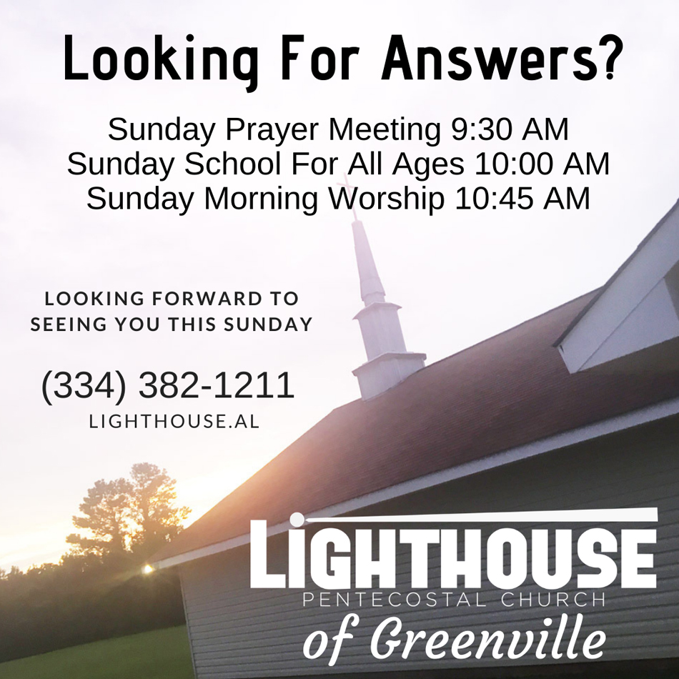 Lighthouse Pentecostal Church, Greenville, Alabama, Pastor Darryl Freeman, The Pentecostals of Greenville, Alabama